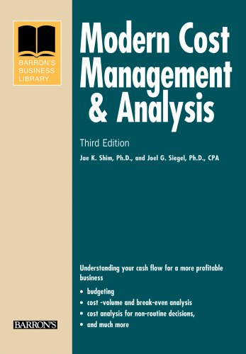 Modern Cost Management and Analysis  3rd 2009 (Revised) edition cover
