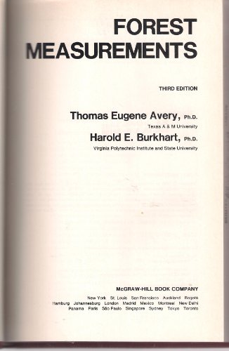 Forest Measurements 3rd 1983 edition cover