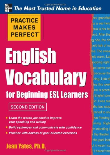 English Vocabulary for Beginning ESL Learners  2nd 2012 edition cover