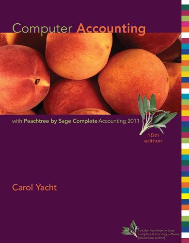 Computer Accounting with Peachtree by Sage Complete Accounting 2011  15th 2012 9780077505035 Front Cover