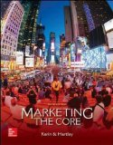 Marketing: The Core  2015 9780077729035 Front Cover