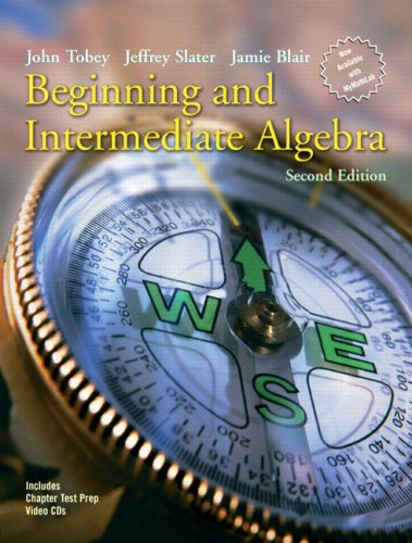 Beginning and Intermediate Algebra  2nd 2006 (Revised) 9780131492035 Front Cover