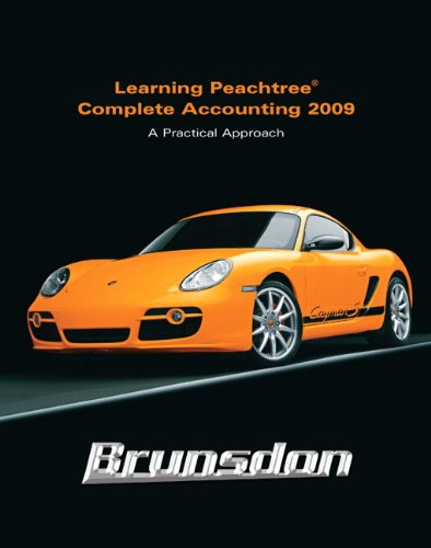 Learning Peachtree Complete Accounting 2009  3rd 2010 edition cover