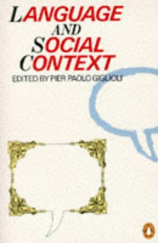 Language and Social Context Selected Readings N/A edition cover