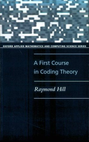 First Course in Coding Theory   1986 edition cover