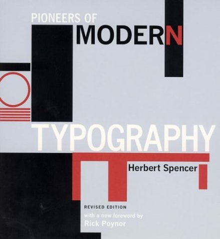 Pioneers of Modern Typography  2nd 2004 (Revised) edition cover