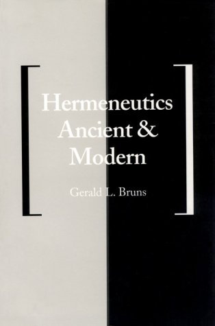 Hermeneutics Ancient and Modern   1992 edition cover