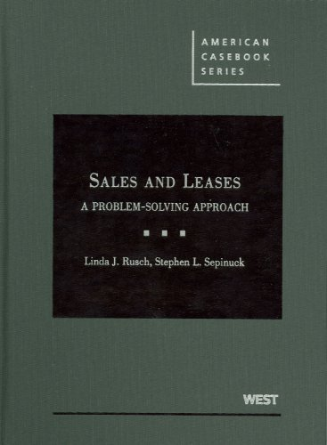Sales and Leases A Problem-Solving Approach  2009 edition cover