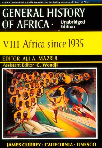 UNESCO General History of Africa Africa since 1935  1999 (Unabridged) edition cover
