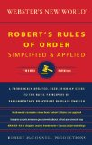 Robert Rules of Order Simplified and Applied  3rd 2014 edition cover