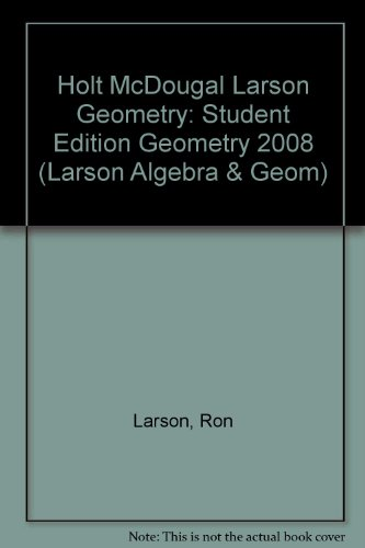 Geometry, Grades 9-12: McDougal Littell High School Math Michigan  2007 9780618924035 Front Cover