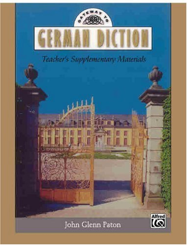 Gateway to German Diction Book and CD  1999 edition cover