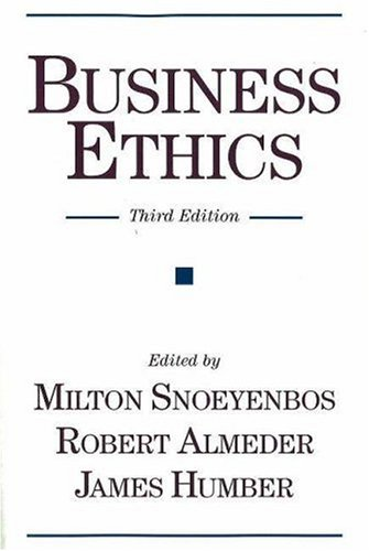 Business Ethics  3rd 2001 edition cover