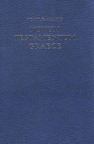 Novum Testamentum Graece: 1st 1993 edition cover
