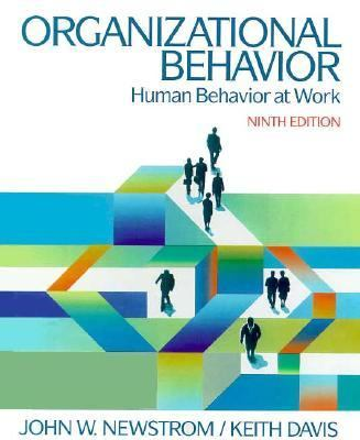 Organizational Behavior : Human Behavior at Work 9th edition cover