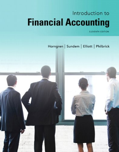 Introduction to Financial Accounting  11th 2014 edition cover