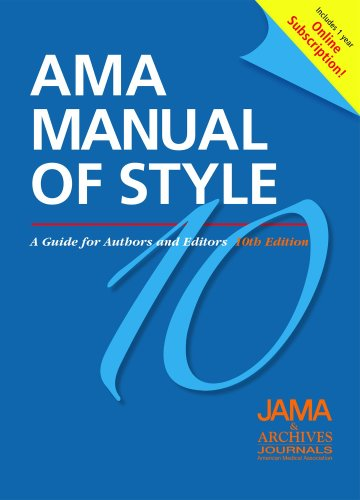 AMA Manual of Style A Guide for Authors and Editors 10th edition cover