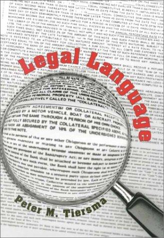 Legal Language   2000 9780226803036 Front Cover
