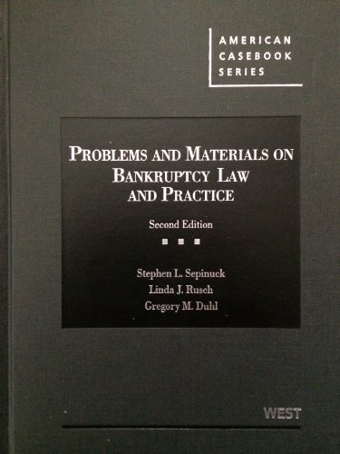 Problems and Materials on Bankruptcy:   2013 edition cover