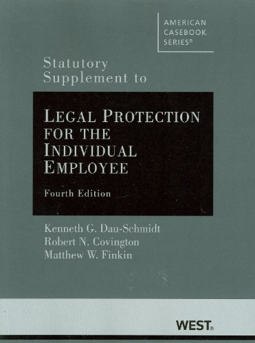 Statutory Supplement to Legal Protection for the Individual Employee  4th (Revised) edition cover