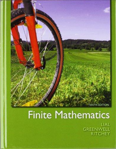 Finite Mathematics  10th 2012 9780321760036 Front Cover