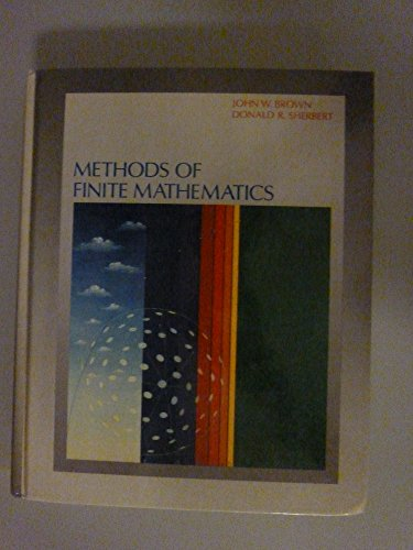 Methods of Finite Mathematics  1st 1989 9780471630036 Front Cover