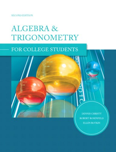 Algebra and Trigonometry for College Students  2nd 2009 edition cover