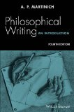 Philosophical Writing An Introduction 4th 2016 edition cover