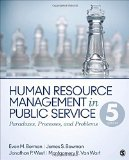 Human Resource Management in Public Service Paradoxes, Processes, and Problems 5th 2016 edition cover