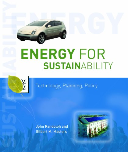 Energy for Sustainability Technology, Planning, Policy 2nd 2008 edition cover