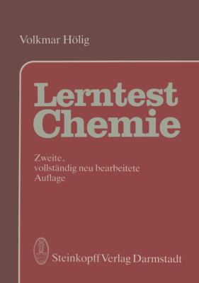 Lerntest Chemie Allgemeine Anorganische und Organische Chemie 2nd 1987 9783798507036 Front Cover