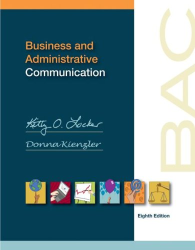 Business and Administrative Communication  8th 2008 edition cover