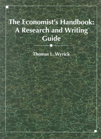 Economist's Handbook A Research and Writing Guide  1994 edition cover