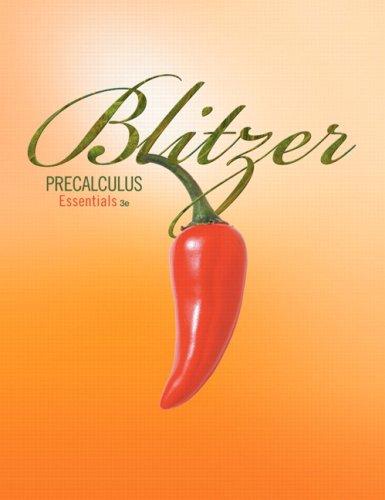 Precalculus Essentials  3rd 2010 edition cover