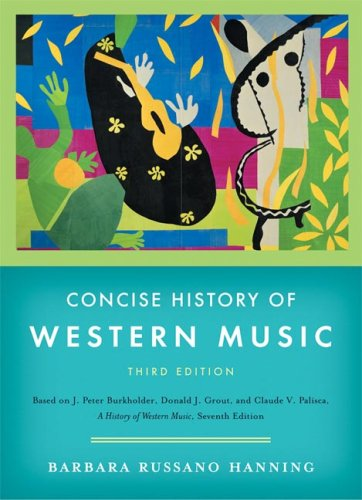 Concise History of Western Music  3rd 2006 edition cover