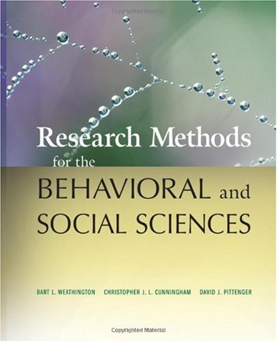 Research Methods for the Behavioral and Social Sciences   2009 edition cover