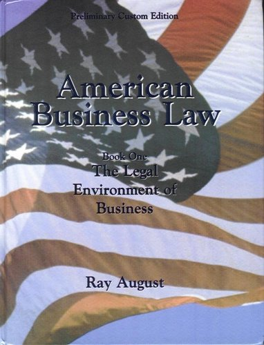 AMERICAN BUSINESS LAW >PRELIM. 1st 9780536680037 Front Cover