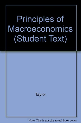 Principles of Macroeconomics  4th 2004 9780618230037 Front Cover