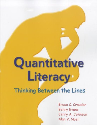 Quantitative Literacy Thinking Between the Lines N/A edition cover
