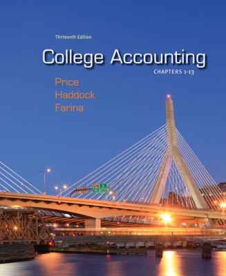 College Accounting Chapters -13 with Connect Plus  13th 2012 edition cover