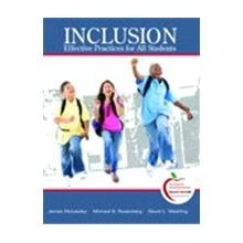 Inclusion Effective Practices for All Students  2010 edition cover
