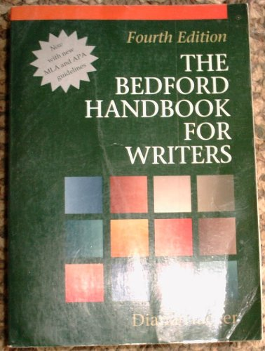 Bedford Handbook for Writers 4th 1994 edition cover