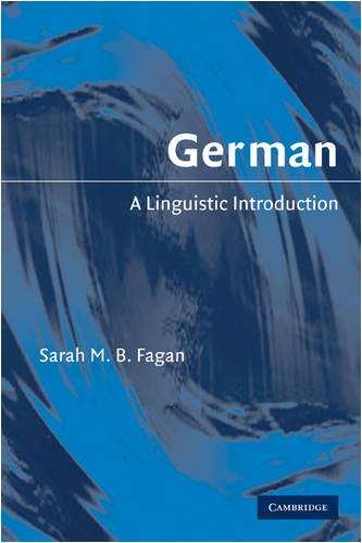 German A Linguistic Introduction  2009 9780521618038 Front Cover