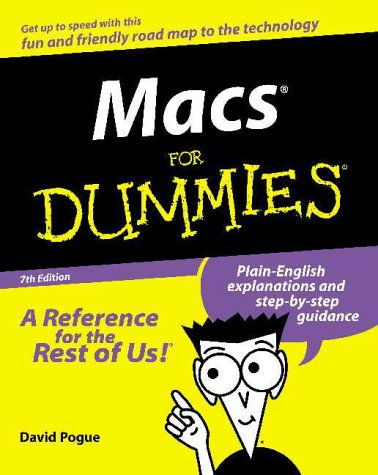 Macs for Dummies  7th 2000 9780764507038 Front Cover
