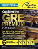 Cracking the GRE Premium 2016   2015 edition cover