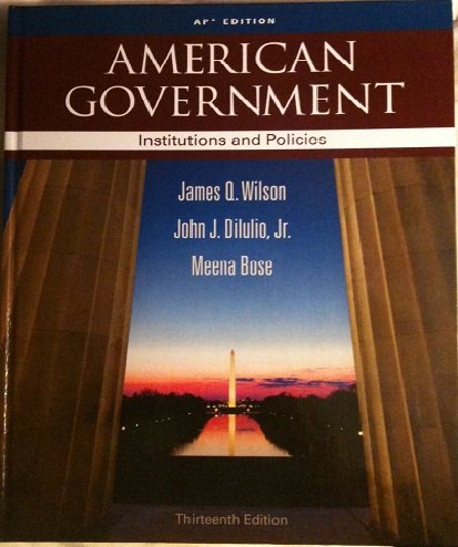 AMERICAN GOVERNMENT AP ED 13th edition cover