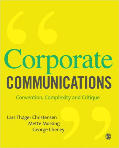 Corporate Communications Convention, Complexity and Critique  2008 edition cover