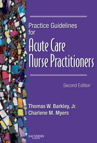 Practice Guidelines for Acute Care Nurse Practitioners  2nd 2007 (Revised) edition cover