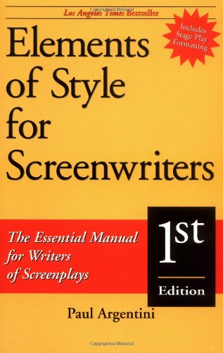 Elements of Style for Screenwriters The Essential Manual for Writers of Screenplays  1998 edition cover