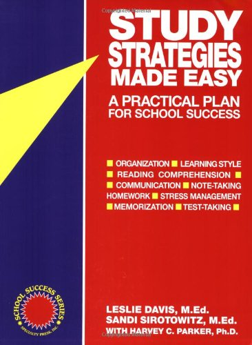 Study Strategies Made Easy A Practical Plan for School Success  1996 9781886941038 Front Cover